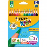 Pastelli colorati - Astuccio 12 Matite Kids Evolution Triangle Bic -