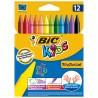 Pastelli colorati - Astuccio 12 Pastelli Kids Plastidecor Bic -