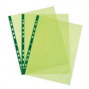 Buste a perforazione universale - 25 Buste Forate Pstel 22x30 Verde Liscio Favorit -