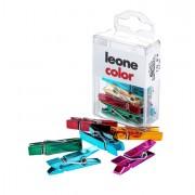 Fermagli - fermacampioni - molle - Scatola 10 Mini Mollette Colori Metal Assort.Leone Color -