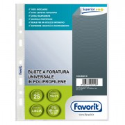 Buste a perforazione universale - 25 Buste Forate 15x21 1775/15 Special ppl Liscio Favorit -