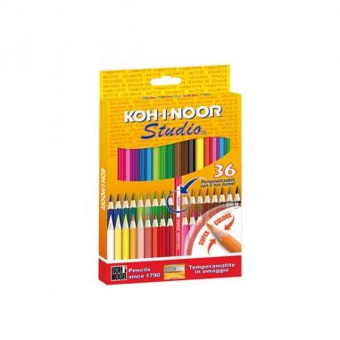Pastelli colorati - Astuccio 36 Matite Colorate Studio Koh.I.Noor -