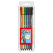 Colore liquido - Astuccio 6 Evidenziatori Stabilo Pen 68 Neon Assort. -