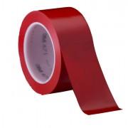 Segnaletica - Nastro Adesivo Vinilico 50mm x 33Mt Rosso Scotch 471 -
