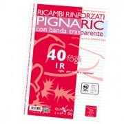 Ricambi forati - Ricambi Forati Rinforzati A4 1Rigo 40fg 80gr Pignaric -