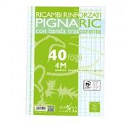 Ricambi forati - Ricambi Forati Rinforzati A4 4mm 40fg 80gr Pignaric -