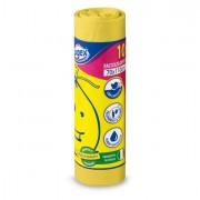 Sacchi rifiuti - pattumiere - bidoni - 10 Sacchi Immondizia 70x110Cm 120Lt Hd 16? Giallo Logex -