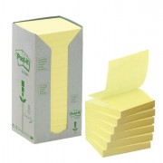 Blocchi adesivi - dispenser - Blocco 100Foglietti Post-It Z-Notes Green 76X76Mm R330-1T Giallo Ricicl.100 61897 - CONF.1