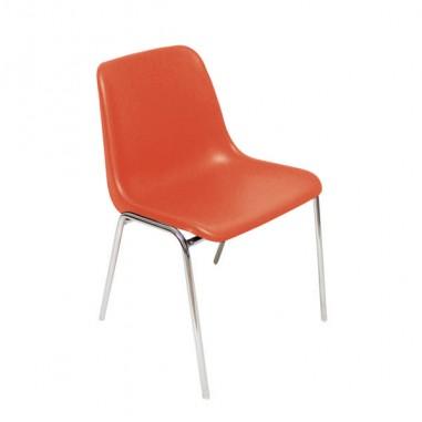 Sedute attesa e accessori - Sedia Attesa Esse Rosso Senza Braccioli -