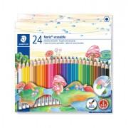 Pastelli colorati - Astuccio 24 Matite Noris Club 144 Cancellabili Colori Assortiti Staedtler -