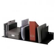 Portacorrispondenza - portariviste - Portariviste A 10 Separatori Mobili Nero 80,2x27,5x21Cm Paperflow -