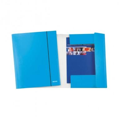 Cartelle con elastico - Cartellina C/Elastico Wow Blu Metal 25X35Cmcm 39830036 - CONF.5 -