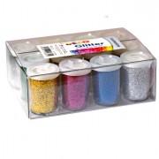 Accessori lavori manuali - 12 Tubetti Glitter Da 22gr 5 Colori Assortiti 05330 Cwr -