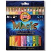 Pastelli colorati - Astuccio 12+1 Matitoni Magic Fsc Kohinoor -