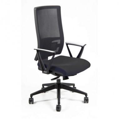 Sedute direzionali - Poltrona Semidirezionale Nereide Nero con Bracc. -