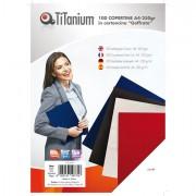 Cartelline e copertine per rilegature - 100 Copertine A4 Cartoncino Goffrato 250G Nero Titanium -