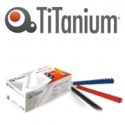 Accessori per rilegature - 100 Dorsi Plastici 21 Anelli 16mm Blu Titanium -