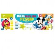 Buste e biglietti neutri - Blocchetto 10 Inviti Alla Festa Mickey Disney Sadoch WYASSDIS - CONF.10 -