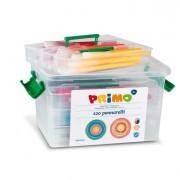 Pennarelli scuola - Schoolbox 120 Pennarelli Punta Fine Lavabili Primo -