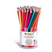 Pennarelli scuola - Bicchiere Da 72 Pastelli Colorati 100 Fsc In 12 Colori Primo -