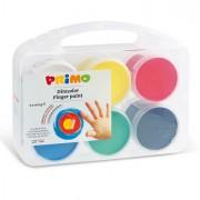 Acquerelli - colori a dita - Valigetta 6 Colori A Dita 100gr con Pennello Primo -