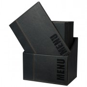 Porta menu' e accessori - Menu-Box Trendy Con 20 Porta Menu' Nero -