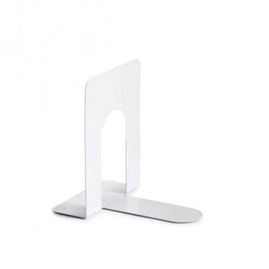 Sparticarte - reggilibri - Coppia Reggilibri Bianco In Metallo Art.7250 -