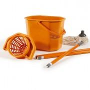 Accessori per pulizia ambienti - Kit Pavimenti (Secchiostrizza+Mop+Manico130Cm) Perfetto -