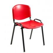 Sedute attesa e accessori - Sedia Attesa Dado D5Sp Rosso Senza Braccioli -
