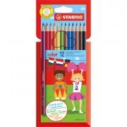 Pastelli colorati - Astuccio 12 Pastelli Colorati Stabilo Color -
