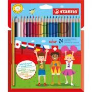 Pastelli colorati - Astuccio 24 Pastelli Colorati Stabilo Color -
