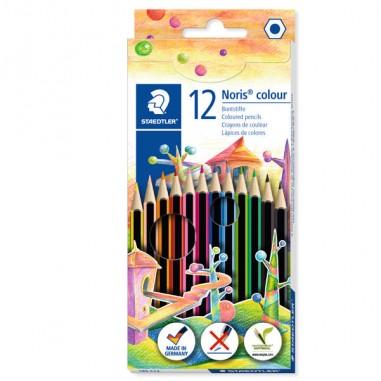 Pastelli colorati - Astuccio 12 Matite Noris Colour In Wopex Colori Assortiti Staedtler -
