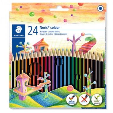 Pastelli colorati - Astuccio 24 Matite Noris Colour In Wopex Colori Assortiti Staedtler -