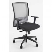 Sedute direzionali - Poltrona Semidirezionale x2 Nero E Rete grigia -