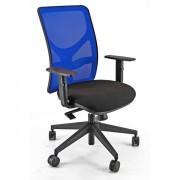 Sedute operative - Sedia Operativa Pna Nero E Rete Blu con Bracc. -