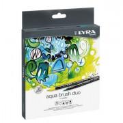 Fineliner - Astuccio 24 Pennarelli Aqua Brush Duo Lyra -