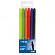 Fineliner - Busta 6 Pennarello Tratto Pen New Metal -