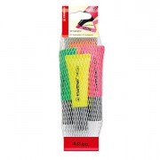 Colore liquido - Busta Da 4 Evidenziatore Stabilo Neon Colori Assortiti 72/24 -