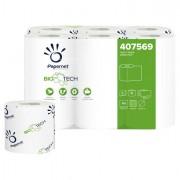 Carta igienica e distributori - Pacco 12Rt Carta Igienica Classica 2Veli 18,2Mt 165 Strappi Biotech Papernet -