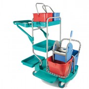 Accessori per pulizia ambienti - Carrello Professionale Top Evolution In Factory -