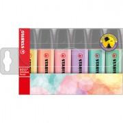 Colore liquido - Busta 6 Evidenziatori Stabilo Boss Pastel -