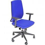Sedute operative - Poltrona Semidirezionale Lr1Se No Flame Blu con Bracc. -