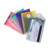 Buste per usi diversi e dedicati - Set 6 Buste Pp Con Velcro F.To Verticali 8x11.5Cm Colori Assortiti -