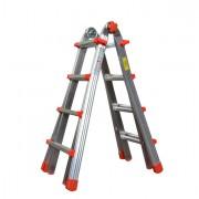 Scale - Scala Telescopica Alluminio 8+8 gradini Squadra -