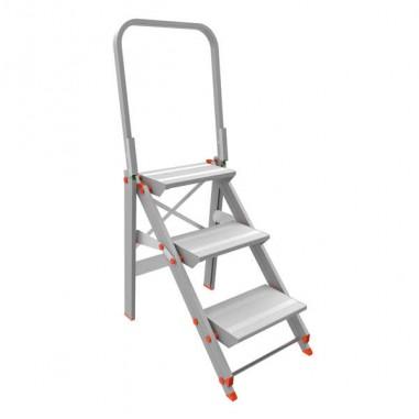 Scale - Scala Sgabello Alluminio 3 gradini Con Parapetto Class Piu' -