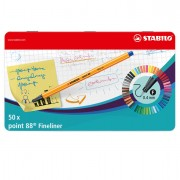 Fineliner - Scatola Metallo 50 Pz. Stabilo Point 88 Colori Assortiti -