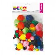 Accessori lavori manuali - Pompons Busta Da 40Pz Colori Assortiti Cwr -