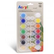 Pennarelli scuola - Colore Acrilico Fine 14 Vasetti Da 4,5Ml Colori Assortiti Primo -
