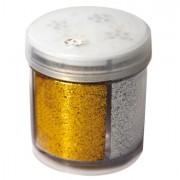 Glitter e porporina - Glitter Dispenser grana Fine 40Ml 4 Colori Assortiti Cwr -