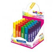 Glitter e porporina - Display Colla Glitter 30 Penne 10,5Ml Colori Assortiti Pastello Cwr -
